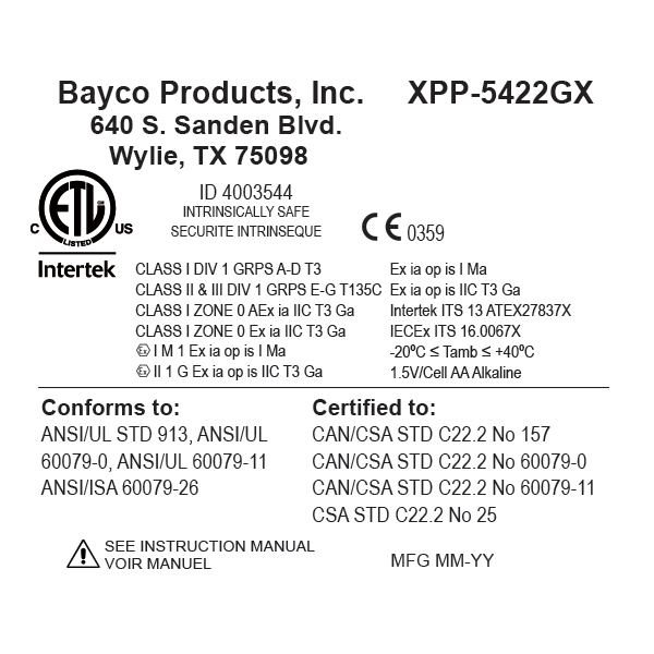 BATERYJNA LATARKA LED XPP-5422GX
